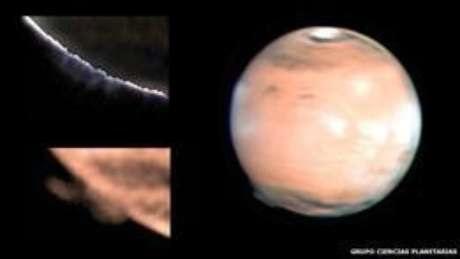 Descoberta pela primeira vez em 2012, uma espécie de névoa apareceu orbitando ao redor do planeta apenas uma outra vez e depois desapareceu  Foto: BBC