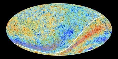 A área onde fica o chamado Ponto Frio fica na constelação de Eridano no hemisfério galático sul, como mostra a imagem feita pela Agência Espacial Europeia em colaboração com o telescópio Planck   Foto: Planck Collaboration / ©ESA